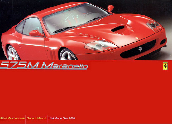 Product picture Ferrari 575M Maranello Owners Manual US Version 2003